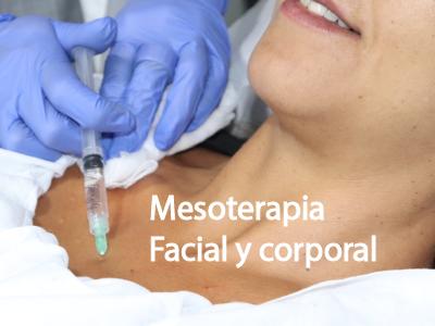 Tratamiento de mesoterapia facial y corporal